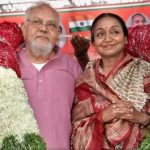 मीरा कुमार अपने पति के साथ