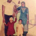 गुरमीत राम रहीम अपनी पत्नी हरजीत एवं अपने बच्चों के साथ