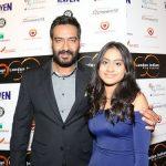 अजय देवगन अपनी बेटी के साथ