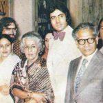 अमिताभ बच्चन अपने माता पिता के साथ