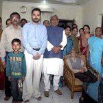 नितीश कुमार अपने परिवार के साथ