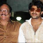 प्रभास अपने चाचा कृष्णम राजू उप्पालापाटि के साथ