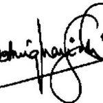 शत्रुघन सिन्हा के हस्ताक्षर
