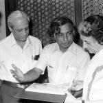 अब्दुल कलाम इंदिरा गाँधी के साथ