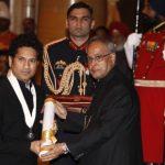 भारत रत्न के साथ सचिन तेंदुलकर