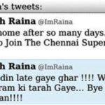 सुरेश रैना विवादास्पद ट्वीट