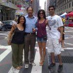 सुष्मिता सेन अपने परिवार के साथ