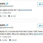 कपिल शर्मा ट्वीट पीएम मोदी को