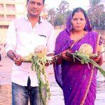 दामोदर राव अपनी पत्नी के साथ