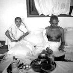 महात्मा गांधी कस्तूरबा गांधी के साथ