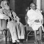 महात्मा गांधी रवींद्रनाथ टैगोर के साथ