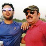 युवराज सिंह अपने पिता के साथ