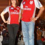युवराज सिंह प्रीति जिंटा के साथ