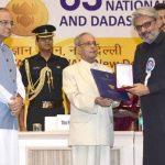 संजय लीला भंसाली राष्ट्रीय पुरस्कार प्राप्त करते हुए