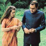 सोनिया गांधी अपने पति राजीव गांधी के साथ