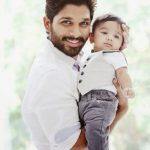 अल्लू अर्जुन अपने बेटे के साथ