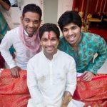 अल्लू अर्जुन अपने भाइयों के साथ