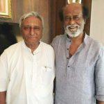 रजनीकांत अपने भाई सत्यनारायण राव के साथ