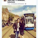 टीना और आमिर विदेश यात्रा के दौरान