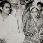 गुरु दत्त अपनी पत्नी गीता रॉय के साथ विवाह के दौरान