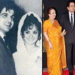दिलीप कुमार अपनी पत्नी सायरा बानो के साथ