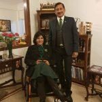 दीपा मलिक अपने पति के साथ