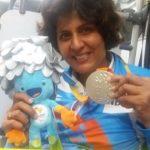दीपा मलिक रजत पदक के साथ