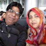 शबीना अदीब अपने पति जौहर कानपुरी के साथ
