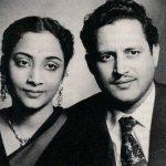 गुरु दत्त अपनी पत्नी गीता दत्त के साथ