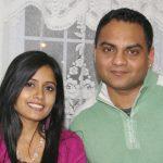 मिस पूजा अपने पति रोमी ताहली के साथ