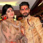 रवींद्र जडेजा अपनी पत्नी के साथ