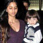 सुहाना खान अपने छोटे भाई अबराम के साथ