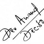 देव आनंद हस्ताक्षर