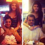 संजना संघी अपने माता-पिता के साथ