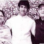 आमिर खान अपने माता-पिता के साथ