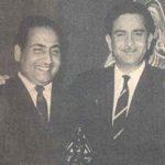 राज कपूर मोहम्मद रफ़ी और शंकर जयकिशन के साथ