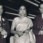 राज कपूर, वैजयन्ती माला और गीतकार शैलेंद्र