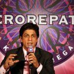 शाहरुख कौन बनेगा करोड़पति की मेजबानी करते हुए