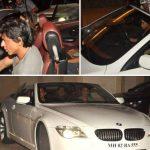 शाहरुख़ खान बीएमडब्ल्यू 6 सीरीज़ कार में