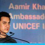 आमिर खान यूनिसेफ समारोह के दौरान