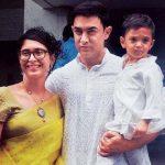 आमिर अपनी दूसरी पत्नी किरण राव और बेटे के साथ