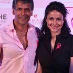 मिलिंद सोमन गुल पनाग (अभिनेत्री) के साथ