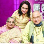 जसराज पंडित अपनी पत्नी और बेटी के साथ
