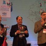 सुभाष चंद्रा ज़ी जयपुर साहित्य महोत्सव में अपनी पुस्तक का विमोचन करते हुए