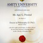 अजय पीरामल की दर्शनशास्र की मानद उपाधि