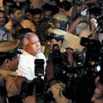 बी॰ एस॰ येदियुरप्पा गिरफ्तारी के दौरान
