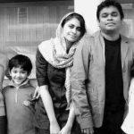 ए. आर. रहमान अपने परिवार के साथ
