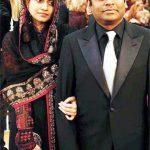 ए. आर. रहमान अपनी पत्नी के साथ