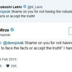 दीया मिर्जा और बीजेपी की सांसद मीनाक्षी लेखी का ट्वीट