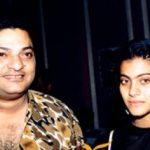 काजोल अपने पिता शोमू मुखर्जी के साथ
